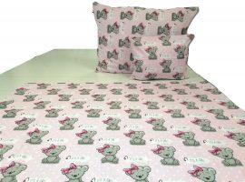 Rózsaszín alapon koala maci mintás 3 részes ágynemű huzat szett