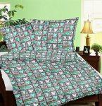 3 részes ágynemű huzat szett - zöld páfrányleveles 140x200 cm