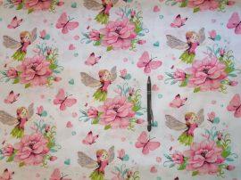 Tündér mintás 160 cm széles pamut textil - méteráru