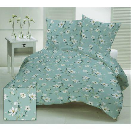 Krepp extra hosszú ágynemű huzat 140x220 cm - sárga -szürke virág