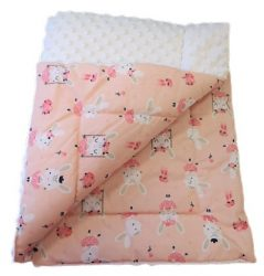 Pink - rózsaszín csillagos kétoldalas takaró 75x100 cm