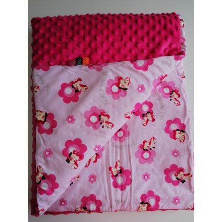 75x100 cm méretű kétoldalas babatakaró pink lovas