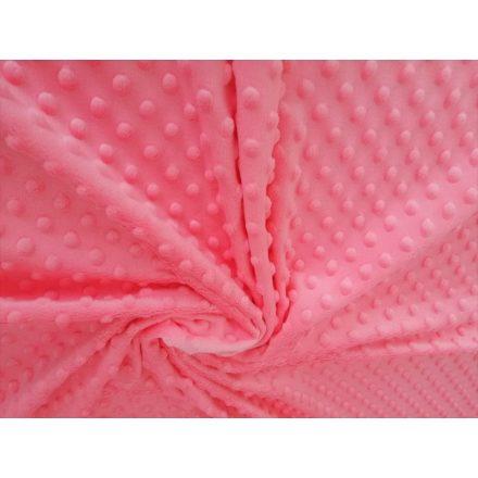 Lazac rózsaszín minky 165 cm széles 350g/m2
