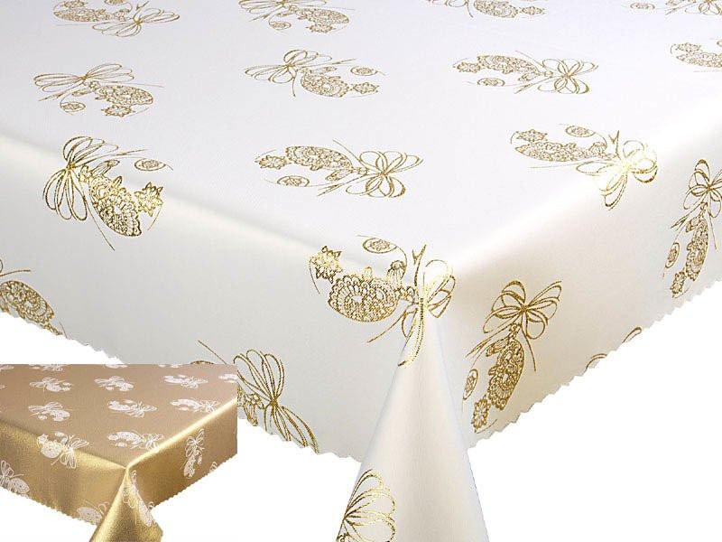 Fehér virág mintás asztalterítő 140x240 cm