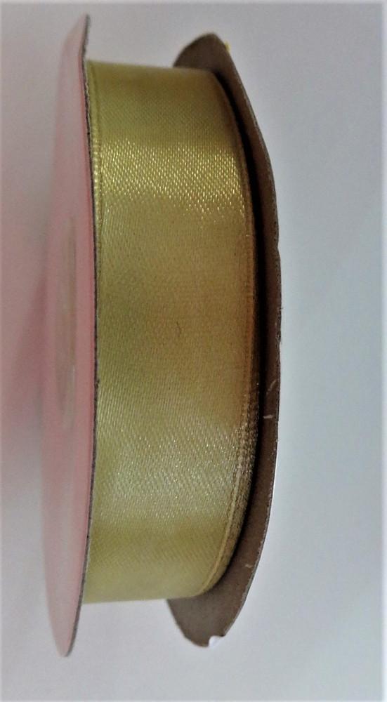 Szatén szalag 21 mm arany - bézs színben